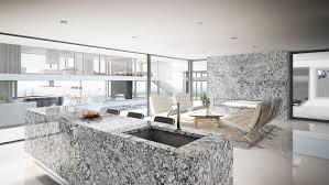 granit küche arbeitsplatte aus granit in der modernen wohnküche