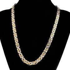 chain necklace men images 9mm 55cm men 39 s stainless steel flat chain necklace fashion punk jpg