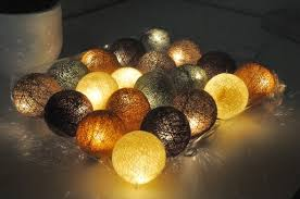 cotton string lights brown green style