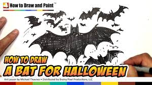 how to draw a bat halloween drawing lesson art for kids mat