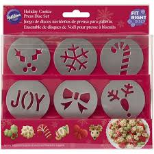 fit right holiday cookie disc set wilton