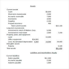 Sheet Template Word Sle Balance Sheet 11 Documents In Word Pdf Excel