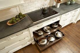 drawer pull outs for kitchen cabinets pot and pan drawers below cooktop transitional kitchen