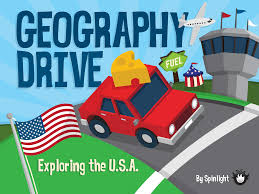Usa Geography Map Games by Explore The States With Geography Drive Usa Spinlight Studio