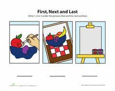 sequence worksheets for kindergarten short story sequencing
