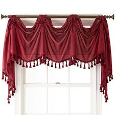 Burgundy Valances For Windows Clearance Valances For Window Jcpenney