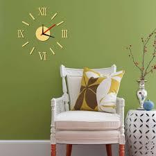 wall clock 3d diy roman font stickers hour modern art watches home