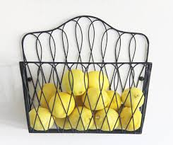 fruit by mail wall mount storage magazine rack fruit basket also for magazines