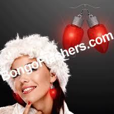 light up christmas earrings christmas light up earrings bongo flashers