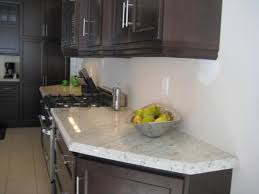 Kitchen Backsplash Ideas For Dark Cabinets Ice Brown Alaska White Vintage Alaska Granite With Dark Cabinets