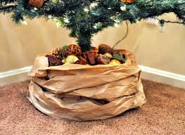 christmas tree skirts a kraft paper tree skirt to dress your christmas tree in style