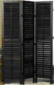 furniture awesome 3 panel door black wood shutter room divider as