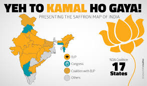 India States Map The Rise And Rise Of Bjp 17 Out Of 29 States In Saffron Grip