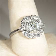 deco engagement ring popular vintage deco diamond ring vintage deco 2 4ctw