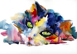 Paint Colorful - colorful tubby cat painting painting by svetlana novikova
