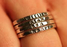 personalized stackable rings fashion friday cinnamon sticks stackable personalized rings