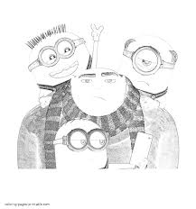 gru and minions coloring page