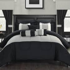 Black And White King Bedding King Velvet Comforter Set Wayfair