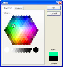 xcolorhexagonctrl a non mfc color picker control that displays a