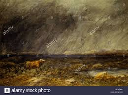 david cox the challenge a bull in a storm on the moor by david cox