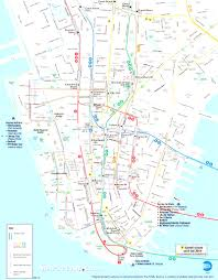 Map Of New York And Manhattan by Map Of New York City Streets And Attractions Best Map New York For