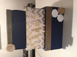 blue and gold wedding card box wedding navy blue u0026 gold desert