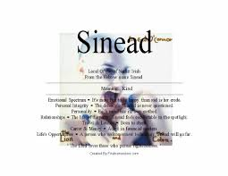 sinead name means kind u2013 name your data of bonanza