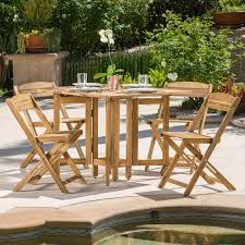 5 Piece Card Table Set Wood Folding Table And Chairs For Special Events And Everyday Use