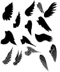 halloween window cutouts free wings kldezign les svg des ailes silhouette cameo