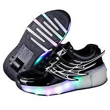 heelys light up shoes amazon com kids wheely shoes girls boys led light up heelys roller