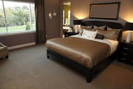 brown bedroom furniture decorating ideas brown sofa chair bedside
