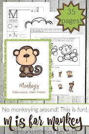 preschool monkey activities and printables