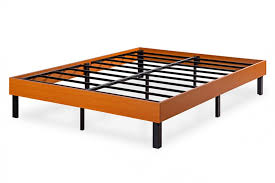 14 Bed Frame 14 Platform Bed Frame Cherry Finish Wood