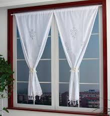 Small Door Curtains Small Cotton Curtains Hollow Embroidery Door Curtain
