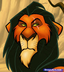 draw scar easy step step disney characters cartoons