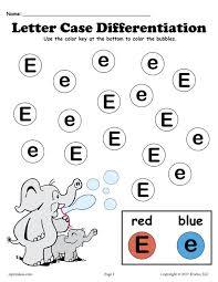 free letter e do a dot printables for letter case differentiation