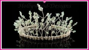 tiaras uk handmade bridal wedding swarovski element fantasia tiara
