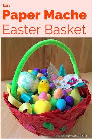 paper mache easter baskets rambling through parenthood easy paper mache easter basket