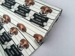 bad villain dog designer curtain upholstery cotton fabric material
