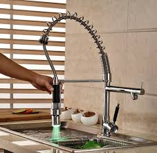 spring pull down kitchen faucet luxury spring pull down kitchen sink mixer taps single handle dual
