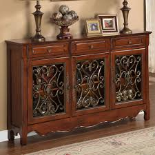 powell scroll console table narrow 12 entry table walnut three door scroll console table by