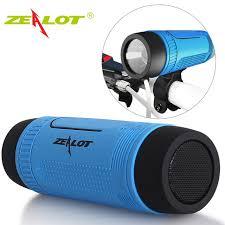 outdoor lights with bluetooth speakers zealot s1 bluetooth speaker outdoor bicycle portable subwoofer bass