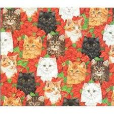 cat wrapping paper new christmas hello gift wrap paper party