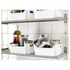 ikea kitchen cupboard storage boxes variera box high gloss white 9 1 2x6 3 4 ikea in 2021