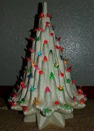 vintage ceramic lighted christmas tree holland mold and maker