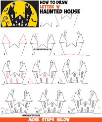 halloween kids cartoons how to draw a haunted house google search halloween