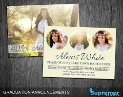 graduation announcement template graduation invitation