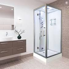 Shower Hinged Door Vidalux Tempest 900mm X 900mm Square Hinged Door Steam Shower