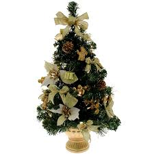 werchristmas pre lit decorated christmas tree table decoration 2