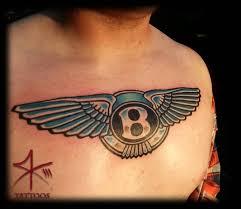 men chest nice wings amazing bentley logo tattoo golfian com